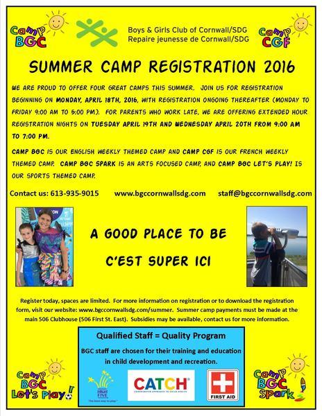 Summer Camp Parent Flyer
